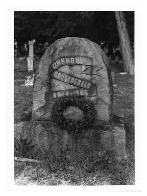Primary view of object titled '[Monument in Evergreen Cemetery]'.