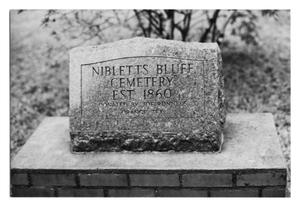 Primary view of object titled 'Nibletts Bluff Cemetary Marker'.