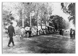 Primary view of object titled 'Green Avenue Parade with Japanese Costumes'.