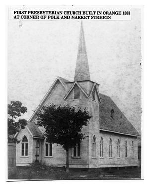 Primary view of object titled '[First Presbyterian Church built in 1883]'.