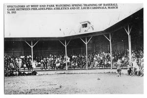 Primary view of object titled '[Spectators watching spring training]'.