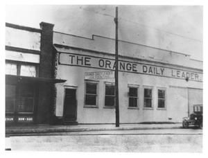 Primary view of object titled '[Orange Daily Leader Building}'.