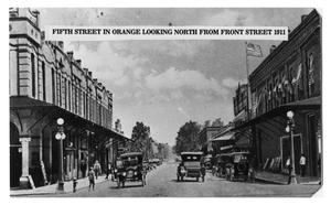 Primary view of object titled '[Fifth Street in Orange, Texas]'.