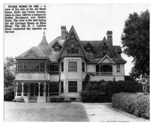 Primary view of object titled '[Stark Mansion viewed from Main Street in 1959]'.