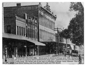 Primary view of object titled '[Front Street in Orange, Texas around 1900]'.