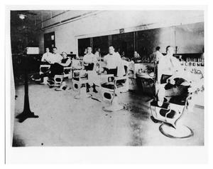 Primary view of object titled 'Holland Hotel Barber Shop'.