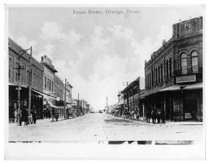 Primary view of object titled '[Front Street in Orange Texas]'.