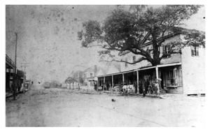 Primary view of object titled '[Call's Store on Front at Fourth Street]'.