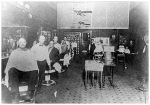 Primary view of object titled '[Barber Shop]'.