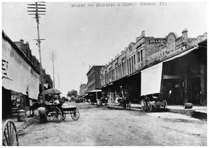 Primary view of object titled '[Business District of Orange, Texas}'.