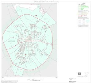 Primary view of object titled '2000 Census County Block Map: Houston County, Inset D01'.