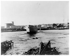 Primary view of object titled '[Ship launching]'.