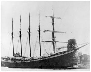 Primary view of object titled '[Five-Mastered Sailing Ship]'.