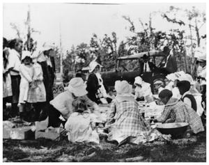 Primary view of object titled '[Picnic scene in Orange]'.