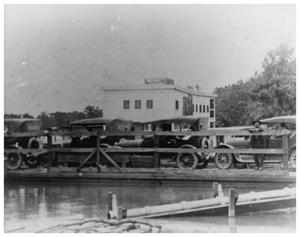 Primary view of object titled '[Ferry crossing Sabine River]'.