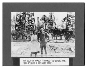 Primary view of object titled 'Max Goldfine and Wife During Oil Boom'.