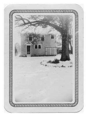 Primary view of object titled '[Two-Story House in Snow]'.