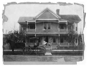 Primary view of object titled 'Two Girls in front of Dr. J.E. Reeves House'.