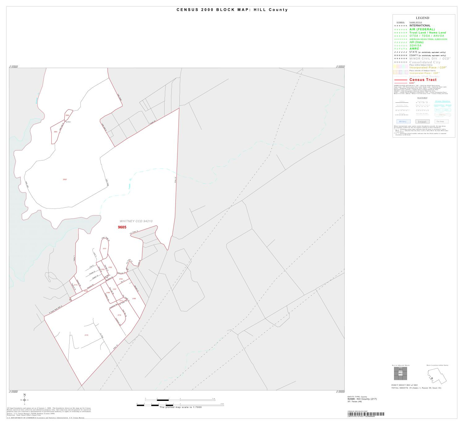 2000 Census County Block Map: Hill County, Inset H02                                                                                                      [Sequence #]: 1 of 1