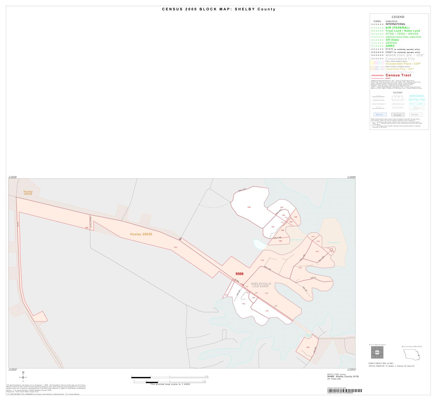 2000 Census County Block Map: Shelby County, Inset H01                                                                                                      [Sequence #]: 1 of 1