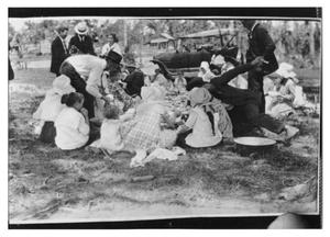 Primary view of object titled 'Picnic and Model-T Ford'.