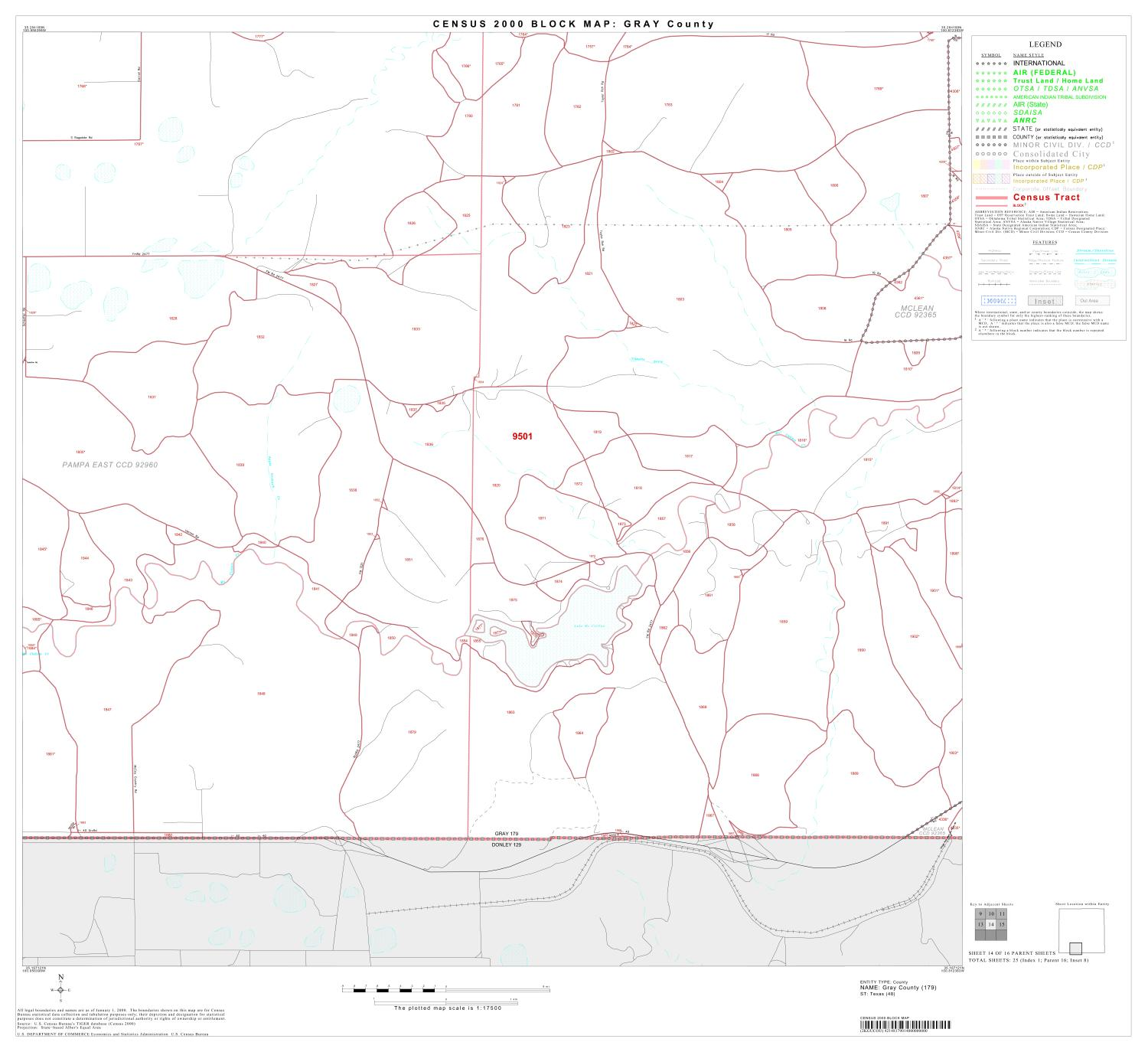 2000 Census County Block Map: Gray County, Block 14                                                                                                      [Sequence #]: 1 of 1