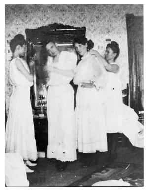 Primary view of object titled 'Four Women at Howell Slumber Party'.