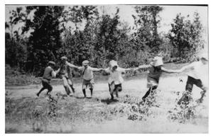Primary view of object titled 'Children Playing Crack the Whip'.