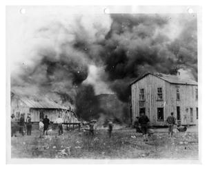 Primary view of object titled 'Pool Hall Fire in Ged, Louisiana'.