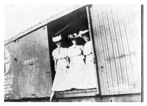 Primary view of object titled 'Three Women in a Railroad Car'.