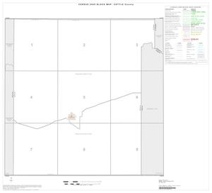 Primary view of object titled '2000 Census County Block Map: Cottle County, Index'.