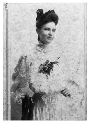 Primary view of object titled 'Alyce Claire Cheatham Howell in her Wedding Dress'.