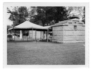 Primary view of object titled 'Evergreen Cemetary, Brown Mausoleum'.