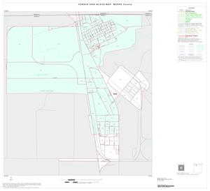 Primary view of 2000 Census County Block Map: Moore County, Inset A01