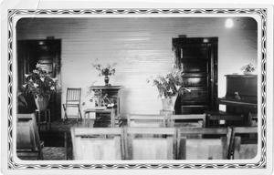 Primary view of object titled 'Interior of the Methodist Church at Terry'.