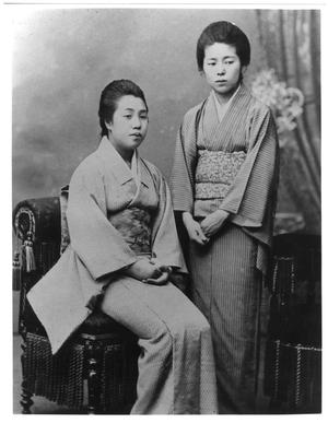 Primary view of object titled '[Japanese Women in Traditional Costume]'.