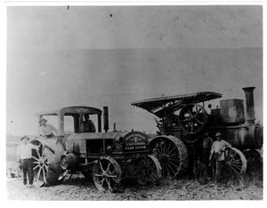 Primary view of object titled '[Two Tractors on the Kishi Farm]'.