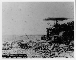 Primary view of object titled '[Tractor working at Kishi Rice Farm]'.