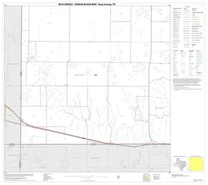 Primary view of object titled '2010 Census County Block Map: Gray County, Block 13'.