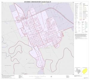 Primary view of object titled '2010 Census County Block Map: Gonzales County, Inset C01'.
