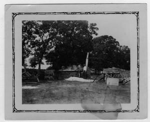 Primary view of object titled '[Emmett McCrary Farm, Vat of Sorghum with Emmett McCrary]'.
