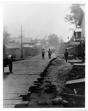 Primary view of object titled '[Wooden Plank Road]'.