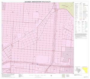 Primary view of object titled '2010 Census County Block Map: El Paso County, Inset G03'.