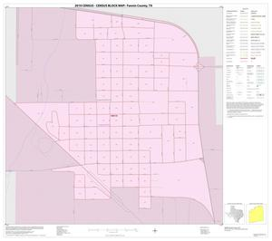 Primary view of object titled '2010 Census County Block Map: Fannin County, Inset K01'.