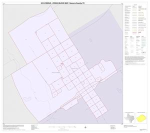 Primary view of object titled '2010 Census County Block Map: Navarro County, Inset M01'.