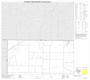 Primary view of object titled '2010 Census County Block Map: Hansford County, Block 1'.