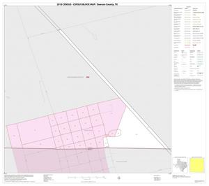 Primary view of object titled '2010 Census County Block Map: Dawson County, Inset C01'.