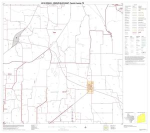 Primary view of object titled '2010 Census County Block Map: Fannin County, Block 13'.