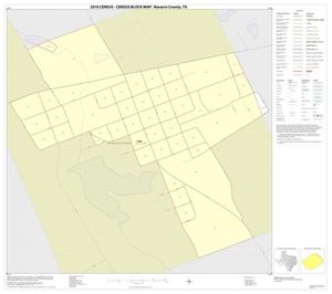 Primary view of object titled '2010 Census County Block Map: Navarro County, Inset F01'.