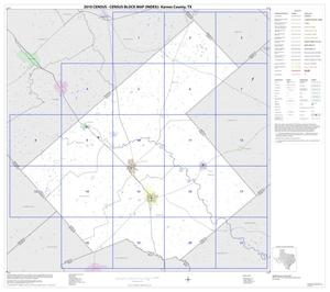 Primary view of object titled '2010 Census County Block Map: Karnes County, Index'.